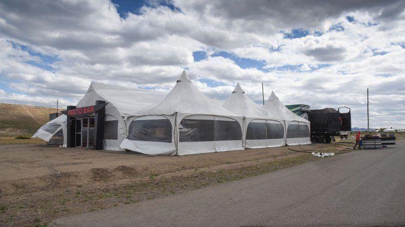 El restó bar de la ACTC ya está instalado en el autódromo General Martín.