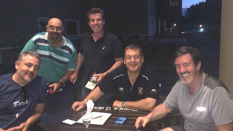 Dirigentes de la Unión de Rugby Austral