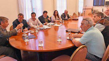 El ministro coordinador de Gabinete se reunió ayer con referentes de la Federación Chubutense de Cooperativas.