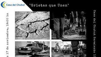 Patricia Pinto, Viviana Campelo, Christian Emmer, David Muñoz y Juan Martínez presentarán hoy en la Casa del Chubut en Buenos Aires el libro Grietas que unen.