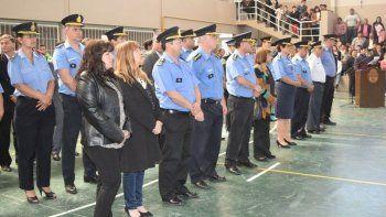en rawson se realizo el acto de egreso de  67 nuevos agentes de la policia del chubu