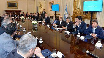 La reunión entre el presidente Mauricio Macri y los gobernadores, donde se firmó el Pacto Fiscal.
