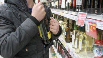 detuvieron a un joven que intento robar un whisky y un vodka