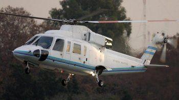 el helicoptero que llevaba a macri debio aterrizar de emergencia