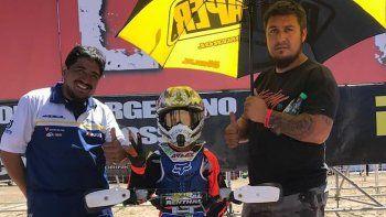 El comodorense Tomás Carbajal se consagró el último fin de semana campeón argentino en Mini Cross.