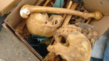 hallan restos humanos en el basural de caleta