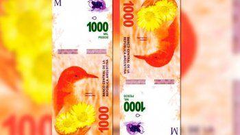 en diciembre se ponen en circulacion los billetes de $1000