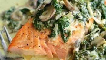 salmon a la florentina