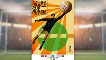 Presentaron el poster  del Mundial de Rusia 2018