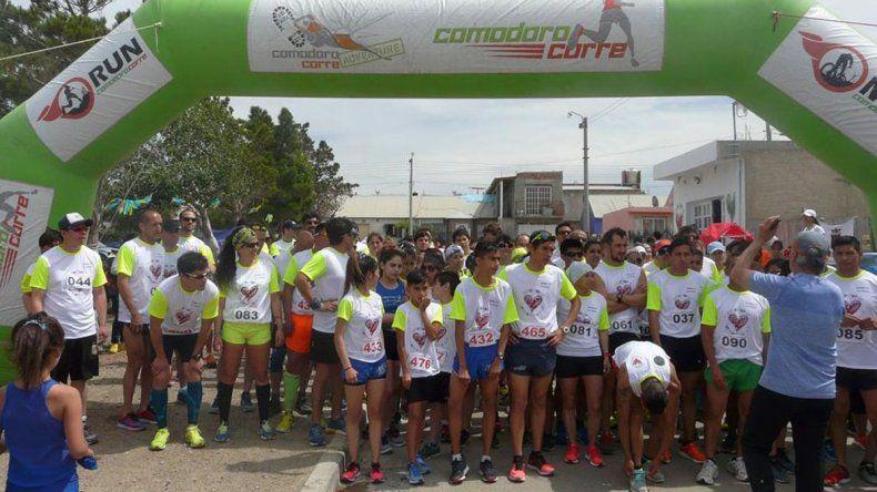 Los runners y caminantes mostraron su solidaridad
