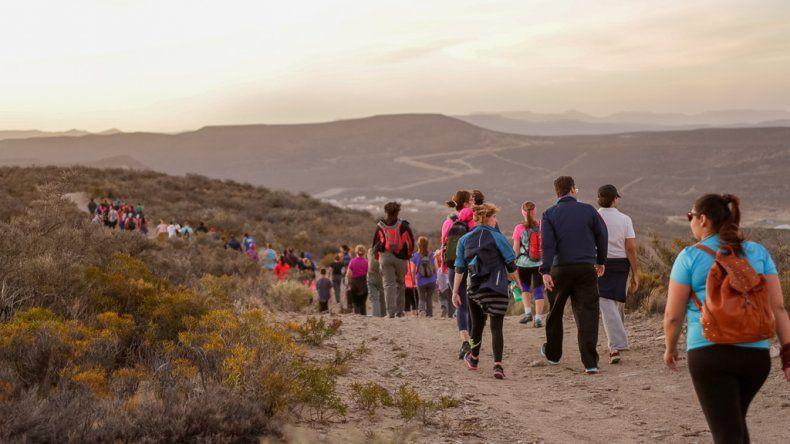 Último Trekking de la luna del año en Rada Tilly