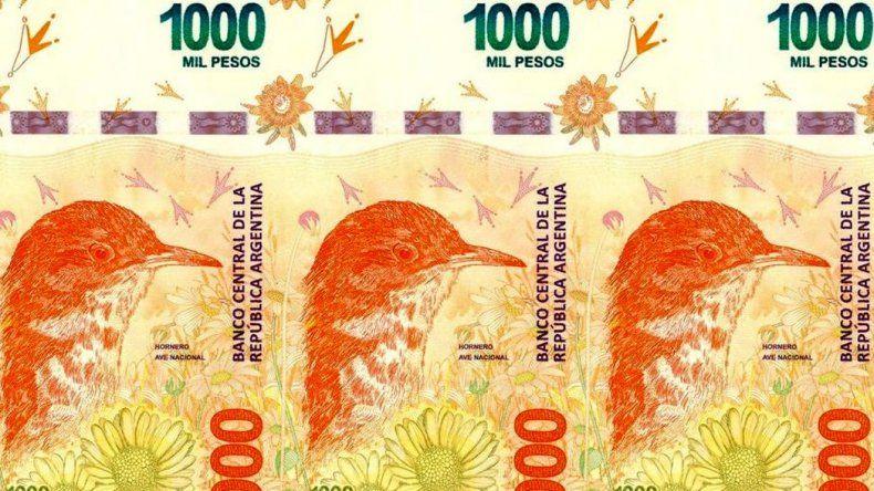A partir de mañana ya estarán en la calle los billetes de $1.000
