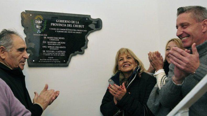Mariano Arcioni presidió en julio de este año en la ciudad de Esquel la reinauguración de la Cámara de Comercio