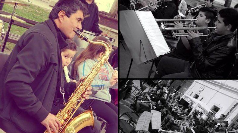 La Banda Infanto Juvenil municipal realizará el cierre de sus actividades homenajeando al profesor del Taller de Saxo
