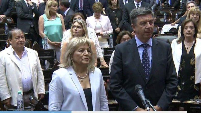 Ya son diputados. Rosa Muñoz y Gustavo Menna juraron y tendrán su primera sesión el miércoles.