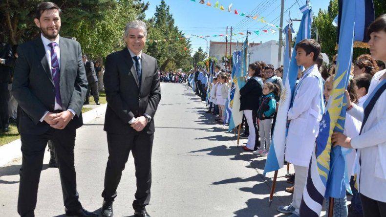 Los actos fueron presididos por el vicegobernador Pablo González y el intendente Mauro Casarini.