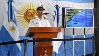 El vocero de la Armada Argentina, capitán de navío Enrique Balbi, confirmó ayer que se aumentó el área de búsqueda del ARA San Juan hacia el norte.