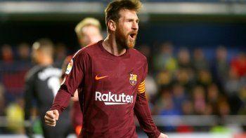 Lionel Messi marcó el segundo gol de Barcelona sobre Villarreal a los 38 minutos del complemento.