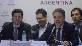 El ministro de Hacienda, Nicolás Dujovne, al explicar en el Congreso el proyecto de Reforma Tributaria impulsado por el Poder Ejecutivo.