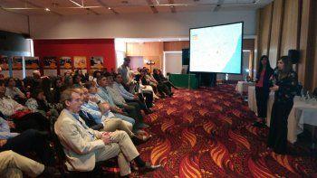 La presentación del trabajo de 2017 que se realizó ayer en un hotel de Comodoro Rivadavia.