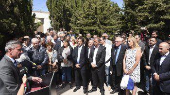 El gobernador encabezó el acto central por el 13 de Diciembre que se desarrolló ayer en el barrio Mosconi.
