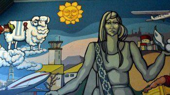 El mural Patagonia, tu destino es levantar vuelo será preservado en el aeropuerto General Mosconi.