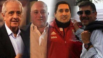 Los cuatro candidatos para ser presidente del Club Atlético River Plate.