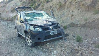 La Sandero que sufrió un despiste en el kilómetro 185 de la ruta Nacional 26.