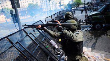 prohibieron el uso de balas de goma y gases lacrimogenos