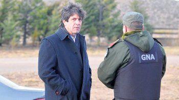 La foto que muestra a Noceti en la zona donde el 1 de agosto desapareció Santiago Maldonado