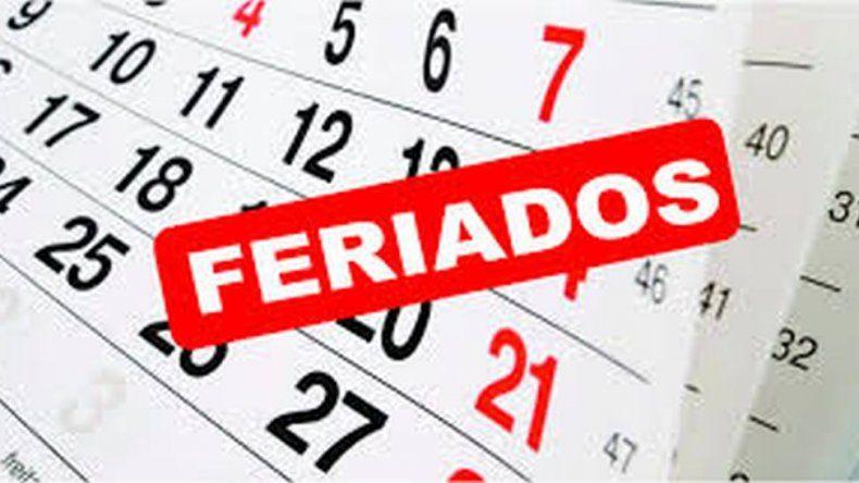 El calendario completo de feriados del 2019