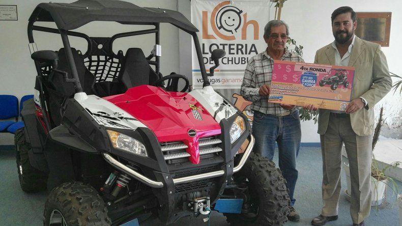 Un ciudadano de Dolavon recibió un UTV Gamma al ganar un sorteo de una de las rondas del Telebingo Chubutense.