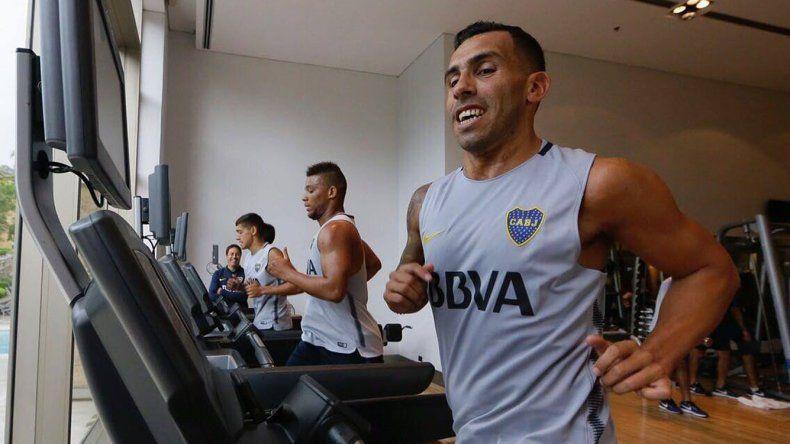 Carlos Tevez se sumó en la tarde de ayer a la pretemporada de Boca en Los Cardales.