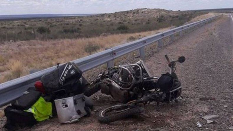 Un motociclista austríaco murió tras accidentarse en Ruta 3