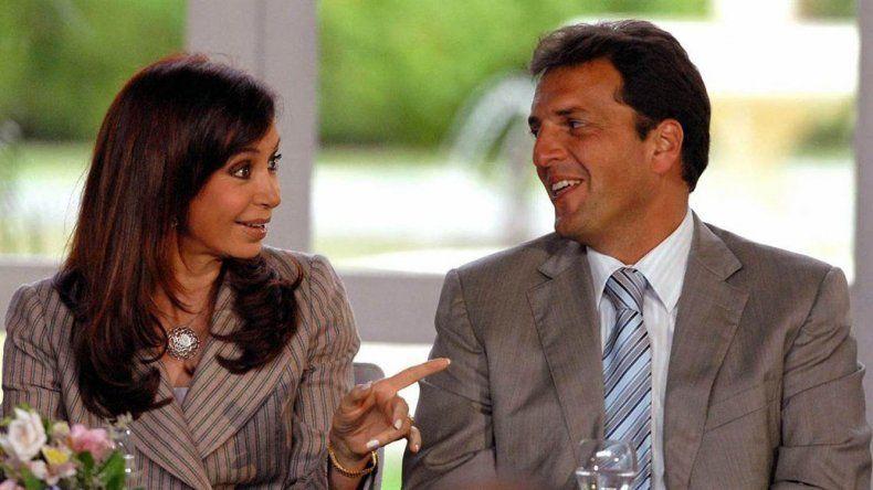 Cristina Kirchner y Sergio Massa en tiempos mejores. Para ellos y para el país.