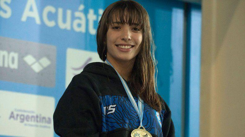 Julieta Lema brilló en la pileta del Centro Nacional de Alto Rendimiento Deportivo.