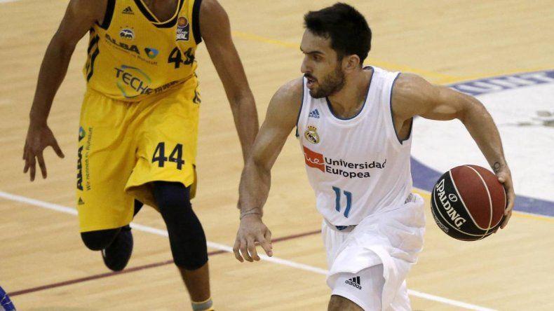 Facundo Campazzo marcó 8 tantos en la victoria del Real Madrid por la Liga ACB de España.