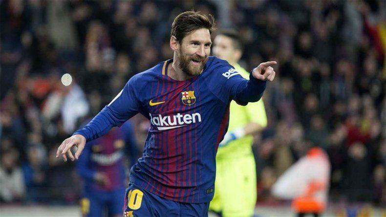 Lionel Messi comenzó con todo el año al aportarle un gol al Barcelona en la victoria de ayer como local ante el Levante.
