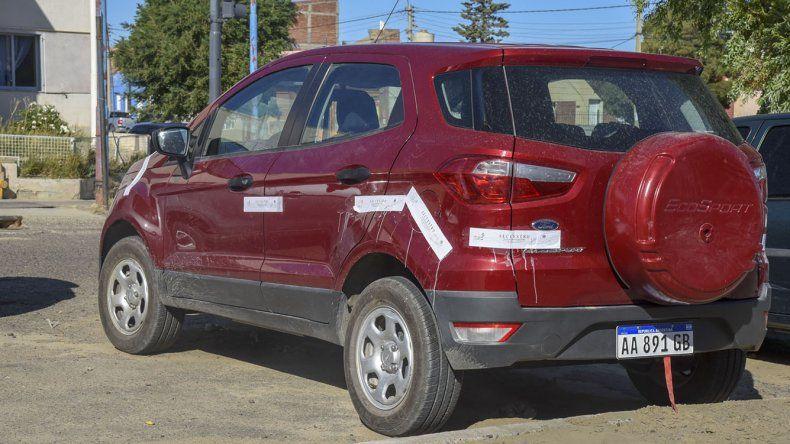 La Ford EcoSport que conducía Julián Mamaní.