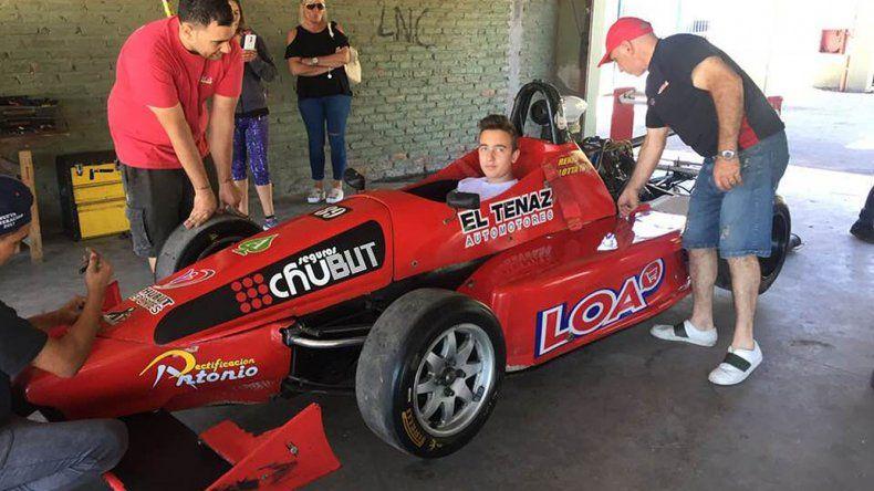 Thomás Micheloud comenzó 2018 con una práctica en la Fórmula 4 Nueva Generación en La Plata.