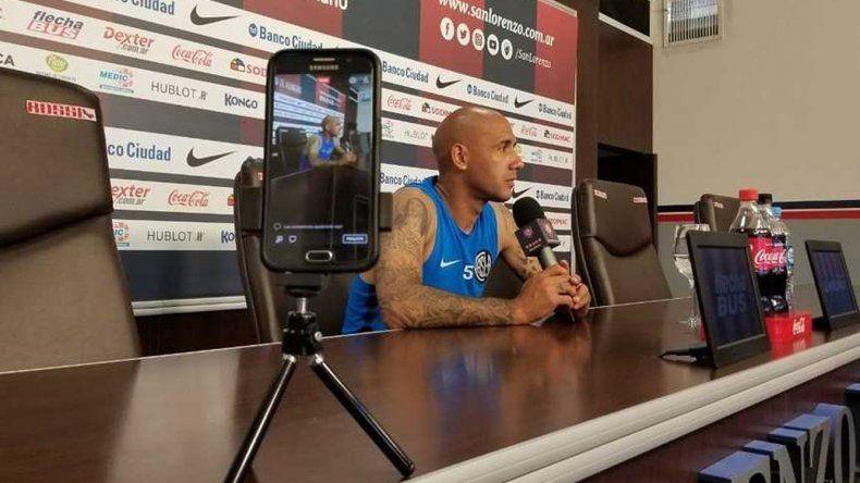 Juan Ignacio Mercier durante la conferencia de prensa que brindó ayer.