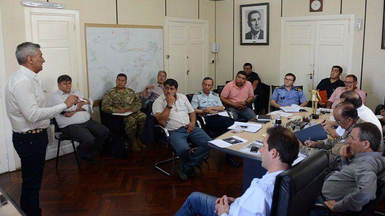 Rubén Palomeque coordinó la reunión que se desarrolló ayer en el municipio.