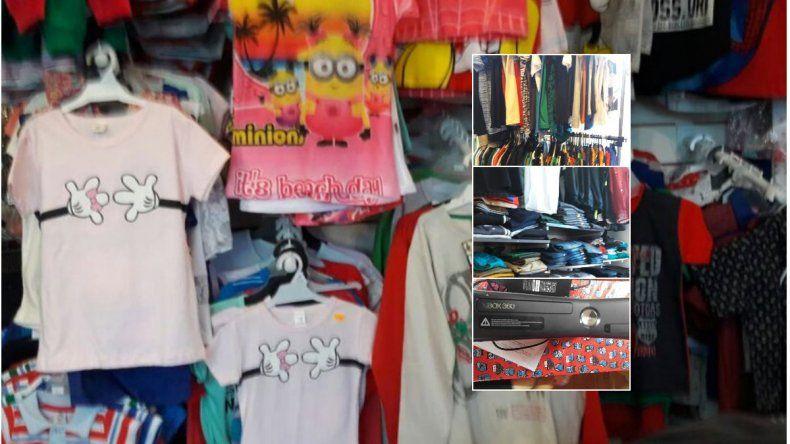 Recuperan parte de las prendas de vestir robadas en una tienda de avenida Kennedy