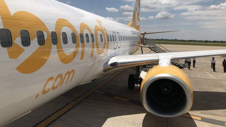 FlyBondi es una de las aerolíneas de bajo costo que proyecta operar desde El Palomar.