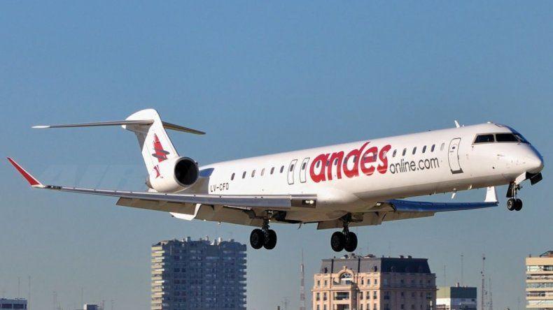 El 5 de marzo Andes unirá por primera  vez Aeroparque y Comodoro Rivadavia