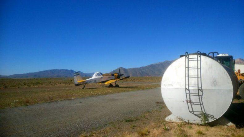 Instalan tanque de agua para abastecer hidroaviones en el aeropuerto de Esquel