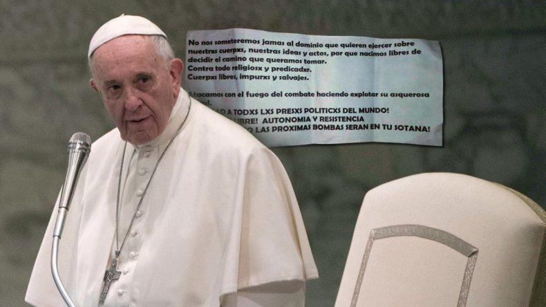 Las próximas bombas serán en tu sotana: la amenaza al papa