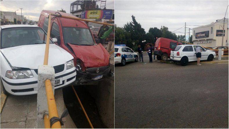 Una persona herida tras un choque en avenida Roca