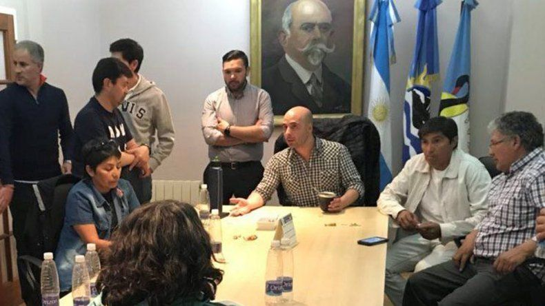 La reunión entre el ministro Fernando Basanta