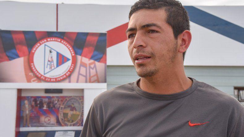 Fabián Paniagua en su nuevo club. Asegura que le falta en lo físico